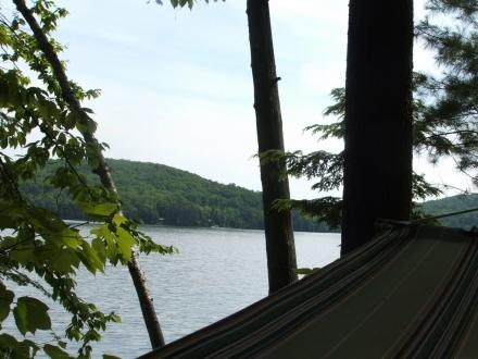 Brule Lake viewed from a hammock