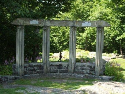 ruins just below the gardens