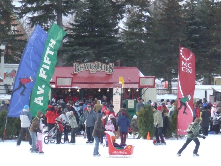 Beavertails hut on the Rideau canal