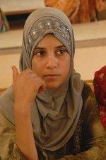 young girl in class in Ramadi