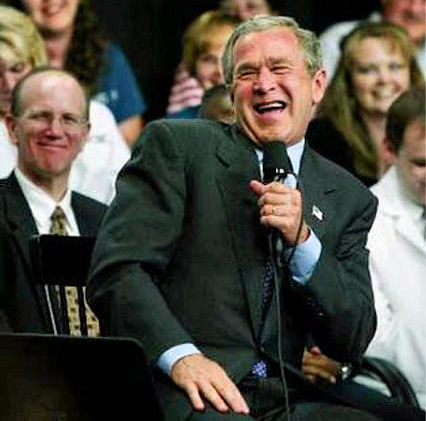George W. Bush laughing