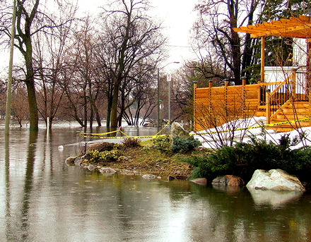 Rideau Garden Dr., Ottawa, flooded
