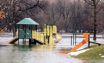 Brantwood Park, Ottawa, flooded