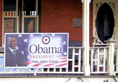 Obama campaign sign