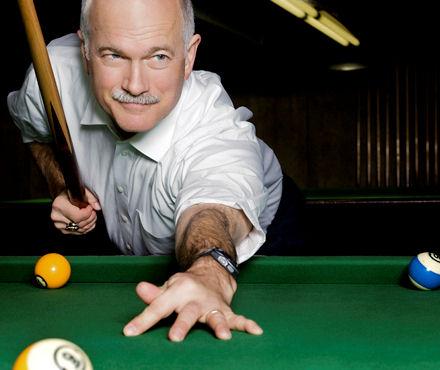 Jack Layton, pool hustler