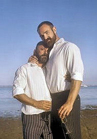 Andrew Sullivan with husband