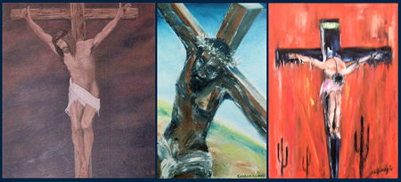 Christ crucified triptych