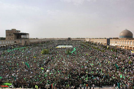 Green Revolution, Iran, mass protest
