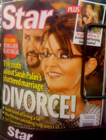 Sarah Palin on the cover of Star